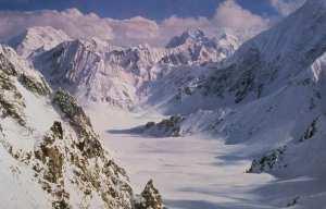 Snowy craggy peaks