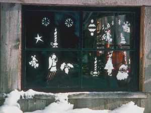 Xmas window treatments